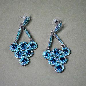 Jewelry - Blue Stone Drop Earrings for Pierced Ears